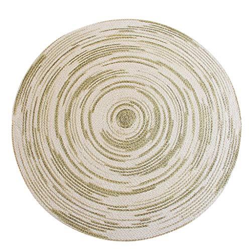 alfombra Alfombra redonda de yute tejida a mano Mesa de estudio Mesa y cojín para silla Manta de la cama del dormitorio...