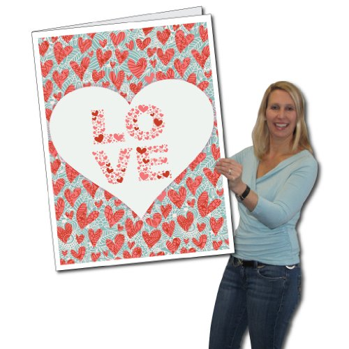 2' x 3' Giant Valentine's Day Card - Love You Always - Envelope Included