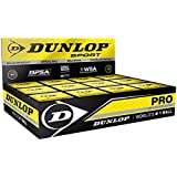 Dunlop Pro Squash Balls, Double Yellow Dot, Box of 12 Pcs [Sports]