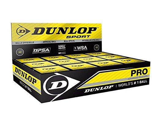 Dunlop Pro Boîte de 12 balles de squash DA50028