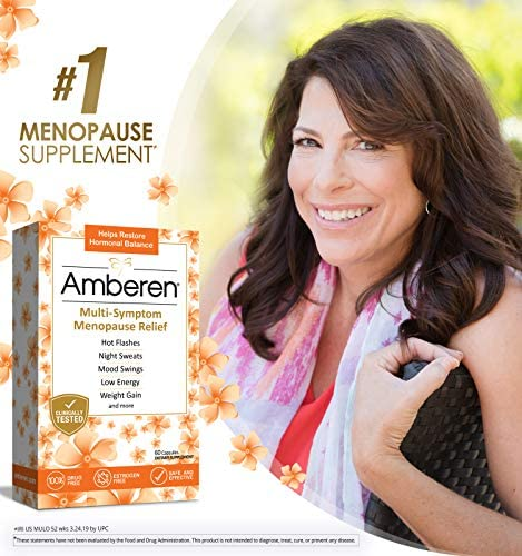 Amberen: Safe Multi-Symptom Menopause Relief. Clinically Shown to Relieve 12 Menopause Symptoms: Hot Flashes, Night Sweats, Mood Swings, Low Energy and More. 2 Month Supply 4