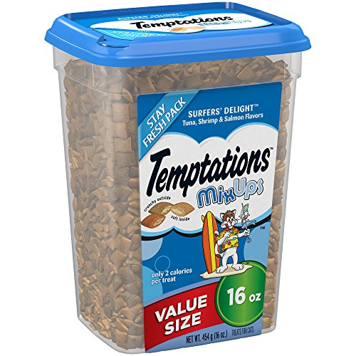 TEMPTATIONS MixUps Halloween Cat Treats Surfer's Delight Flavor - 16 oz. Tub