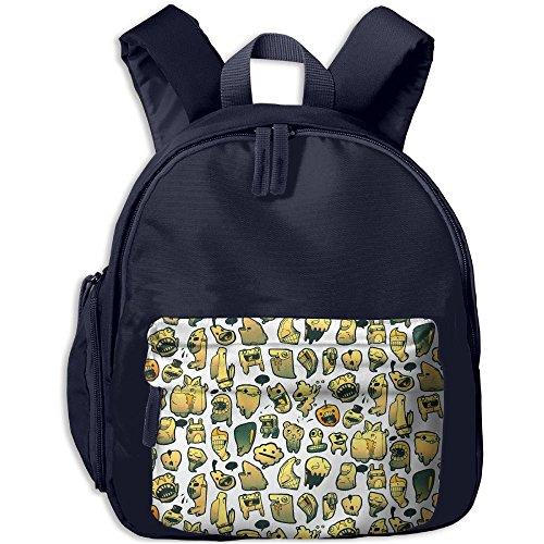 Kid's Cute Strange Pumpkin Shark Creature Party School Bags/Packbags For Boys And Girls