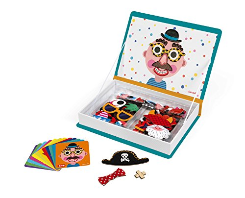 Janod J02716 Magneti'Book Crazy Faces Educational Game, Boys]()