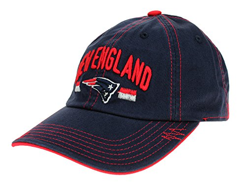 Outerstuff New England Patriots NFL Youth, Curved Brim, Contrast Stitch, Adjustable Hat, Boys 8-20 Contrast Stitch Adjustable Cap