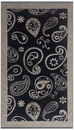Maghso Beautiful Egyptian Cotton Luxury Oversized Bandana Beach Towel, 36 x 64