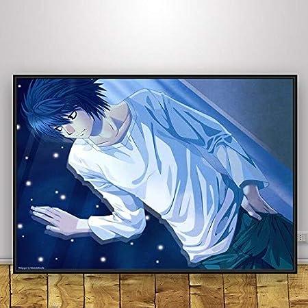 Geiqianjiumai Arte de la Pared Anime Square Decoración del hogar Pintura al óleo Pintura sin Marco 60X80cm