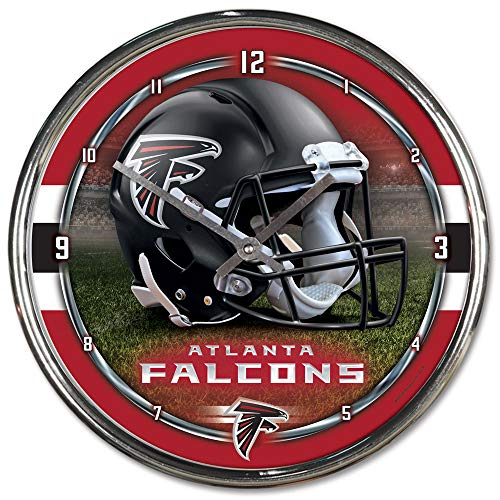 Atlanta Wall - NFL Atlanta Falcons Chrome Clock, 12