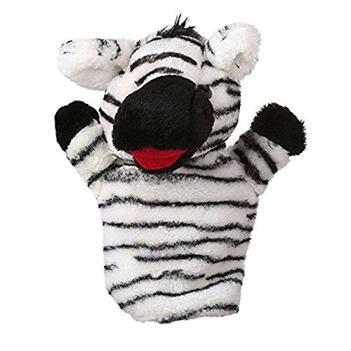 (Polymer Kids Toys Cartoon Animal Doll Kids Glove Hand Puppet Soft Plush Toys Hand Plush Puppets Toy (Zebra))