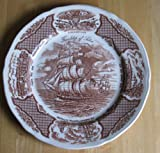 "Alfred Meakin 10 1/2"" Dinner Plate Brown Fair Winds"