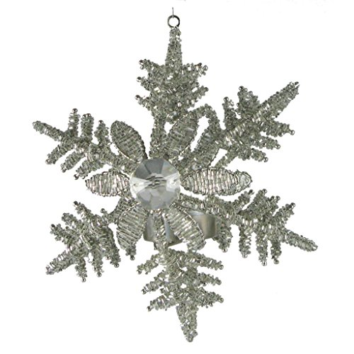 Golden Hill Studio Snowflake Hanging Votive (Set of 2), Large (Snowflake Votive)