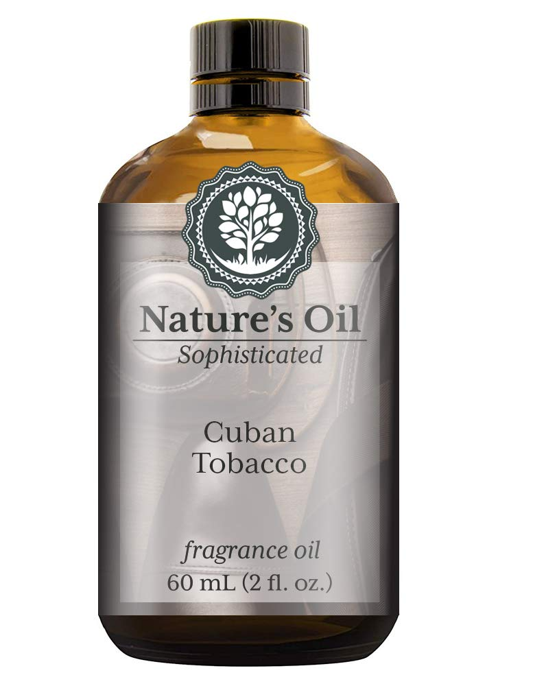 Cuban Tobacco Fragrance Oil (60ml) For Cologne, Beard Oil, Diffusers, Soap Making, Candles, Lotion, Home Scents, Linen Spray, Bath Bombs