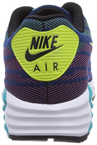 buy online fe525 9d561 Nike Air Max Lunar90 JCRD Mens Running Shoes 654468-002 Black Force Green-Brave  Blue 10.5 M US
