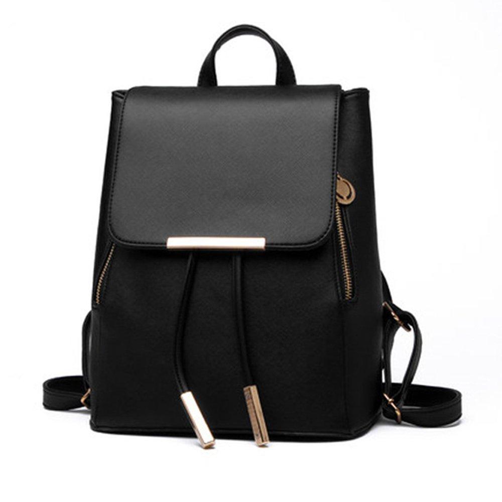 Jonon Women's Modern Design Deluxe Fashion Backpacks (S, BLACK)