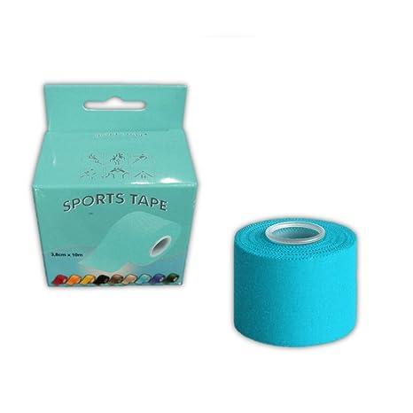 Cinta Sport Tape Sujeta-Espinilleras 10mx4cm azul celeste
