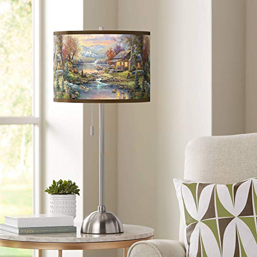 (Thomas Kinkade Nature's Paradise Table Lamp - Giclee Glow)