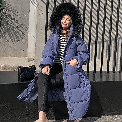Maniche Blue Outwear Lunghe Giacca Cappotti Moda Tinta Rcool Elegante Caldo Unita Lungo Autunno Parka Di Con Cappotto Giubbotto Donna Pelliccia Invernale Cappuccio 8r8qTw1