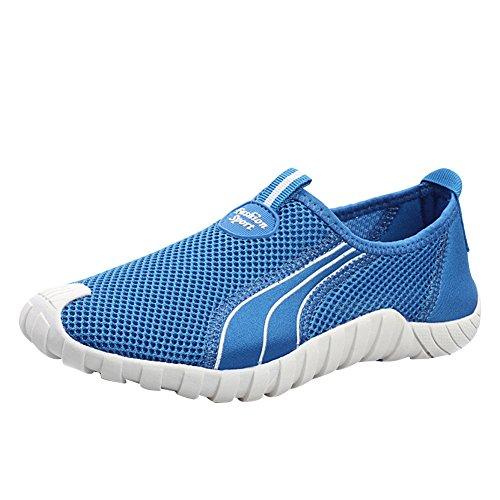 M&A Herren Sneaker-Mesh Slipper Leuchtend blau 38.5