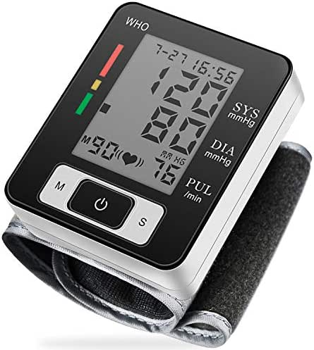 Blood Pressure Monitor, Fully Automatic Accurate Wrist Blood Pressure Monitor with Wristband Automatic Wrist Electronic Blood Pressure Monitor Black