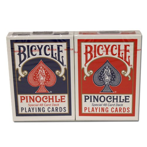 12 Decks Bicycle Pinochle Cards (6 Red / 6 Blue) by Brybelly (Image #3)