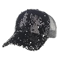 Baseball Hat, ? Ninasill ? Exclusive Unisex Sequins Mesh Cap Fashion Baseball Cap