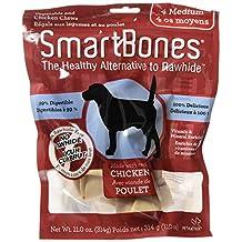 SmartBones Chicken Dog Chew, Medium, 4-Count