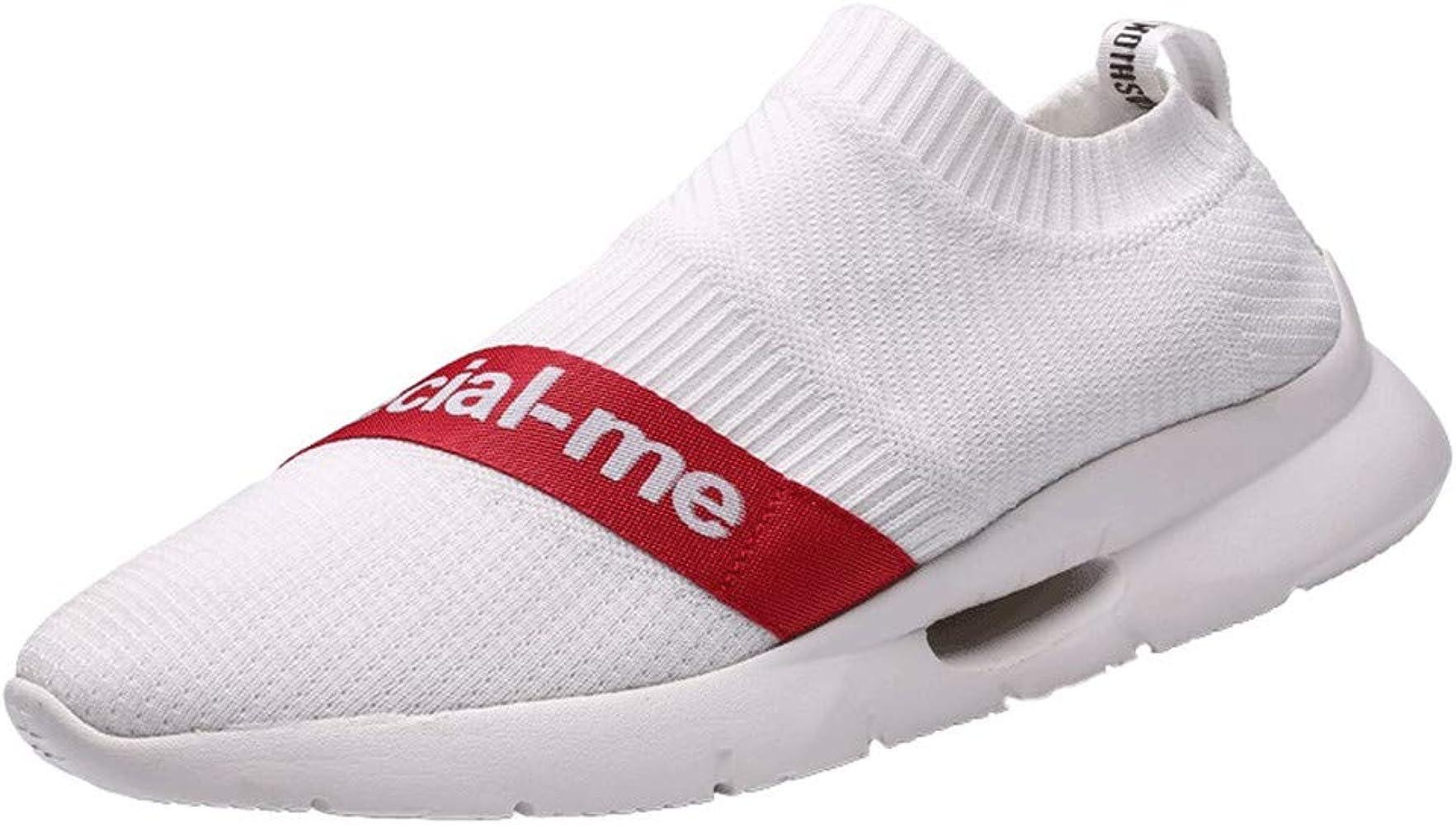 beautyjourney Zapatillas sin Cordones para Hombre Zapatillas Tejidas voladoras Zapatos para Correr Zapato de Verano Zapatos Ligeros Transpirables de Ocio: Amazon.es: Ropa y accesorios