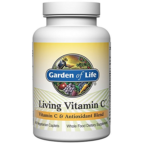 Garden of Life Non-GMO Vitamin C Supplement - Living Vitamin and Antioxidant Whole Food Nutrition Vegetarian, 60 Caplets (Best Food Sources Of Vitamin C)