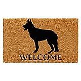 """Calloway Mills 102981729 German Shepherd Doormat, 17"""" x 29"""", Natural/Black"""