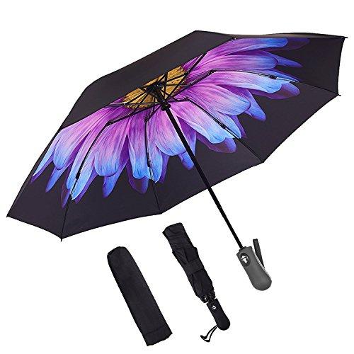 iVict Inverted Umbrella upside down umbrella Double Layer Reverse Umbrella Anti-UV Inside Out Windproof Umbrella for Car Rain Outdoor Use