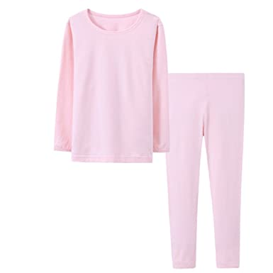 54358c3605 Amazon.com  Unisex Little Kids Cotton Pajamas Basic Solid Pj Set ...