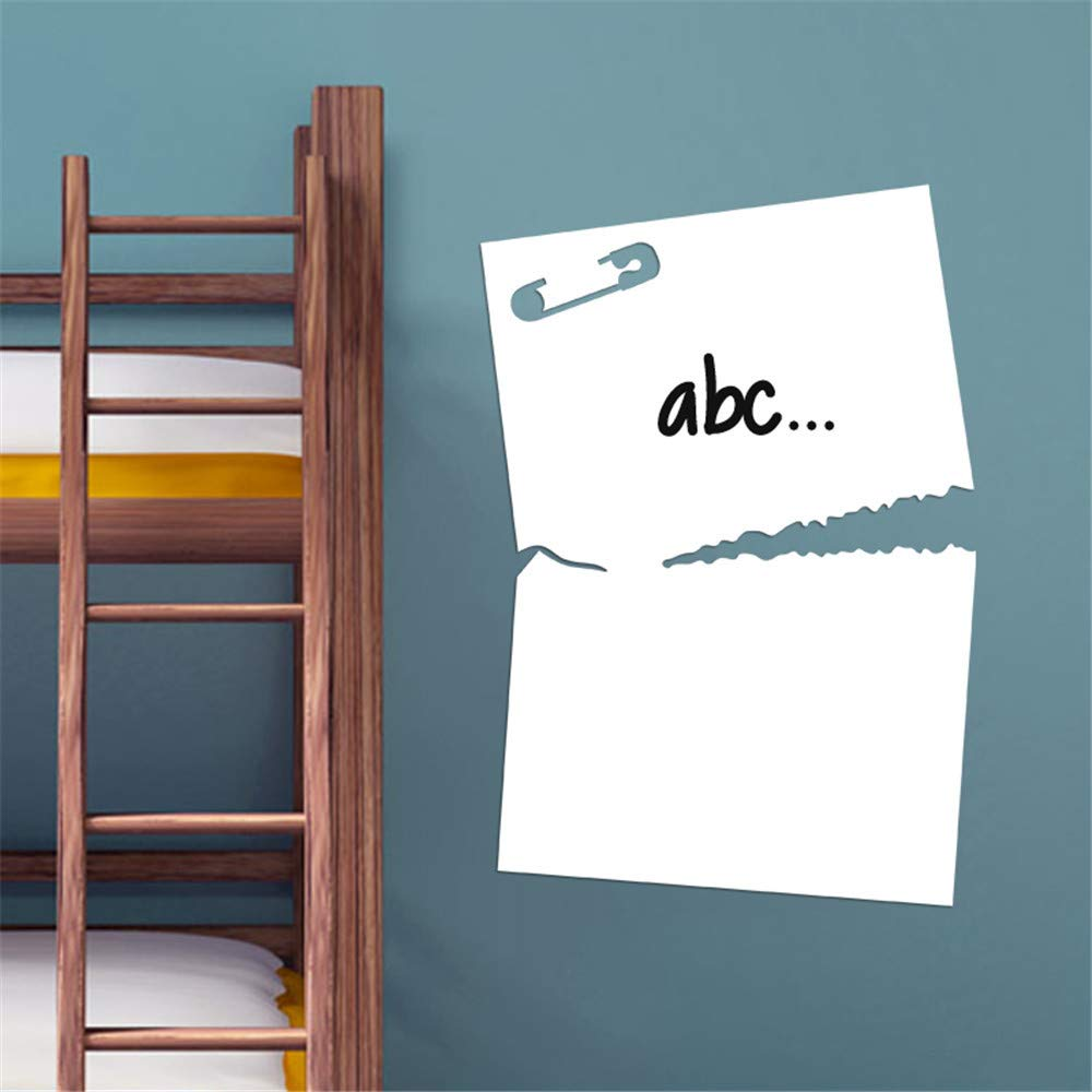 pegatinas de pared frases Perno de la pizarra y papel rasgado para ...