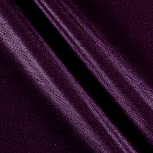 Ben Textiles Shantung Sateen Eggplant Fabric by The Yard,