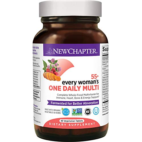 New Chapter Multivitamin for Women 50 Plus - Every Woman's One Daily 55+ with Fermented Probiotics + Whole Foods + Astaxanthin +  Organic Non-GMO Ingredients -48 ct (Packaging May Vary)