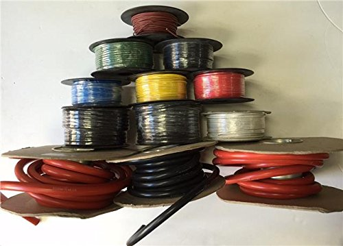 50M Mtr Roll 5.75 Amp Single Core Wire Black Auto Cable Car Loom Flex 14 Strand: