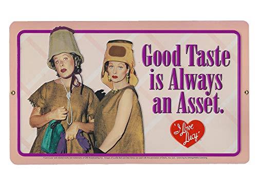 I Love Lucy Good Taste Embossed Tin Sign