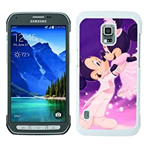 Beautiful And Unique Designed Case For Samsung Galaxy S5 Active With mickey and minnie mouse white Phone Case