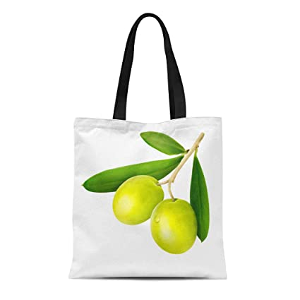 127d7bdf5847 Amazon.com: Semtomn Canvas Tote Bag Shoulder Bags Berry Branch Green ...