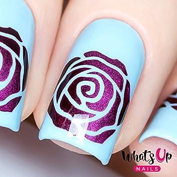 Amazon Whats Up Nails Rose Petals Vinyl Stencils For Nail