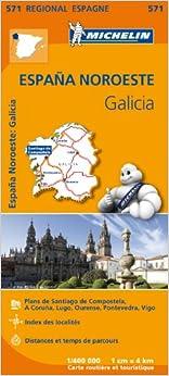 Carte Espagne Galice Michelin