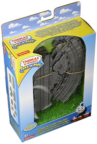 Thomas Straight Track - Fisher-Price Thomas & Friends Take-n-Play, Straight and Curved Track Pack