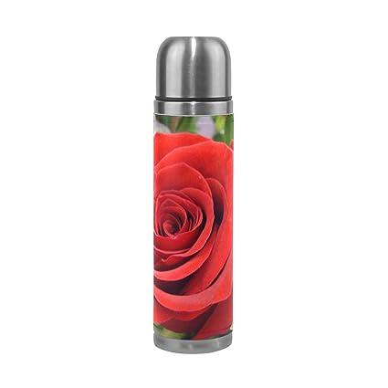Amazon com: Vacuum Flask Unique Charming Rose 17 5 oz