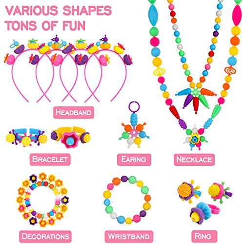 kit to make necklaces and bracelets for girls for 4,5,6,7,8 years
