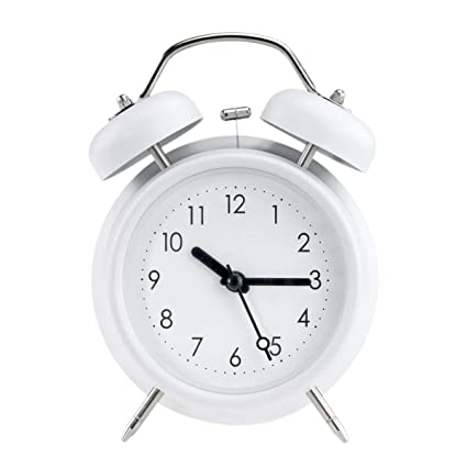 Hard-Working Classic Vintage Alarm Clock With Loud Alarm Quartz Stainless Metal Nightlight Mute Dual Bell Clock Battery Operated Table Clock Alarm Clocks Clocks