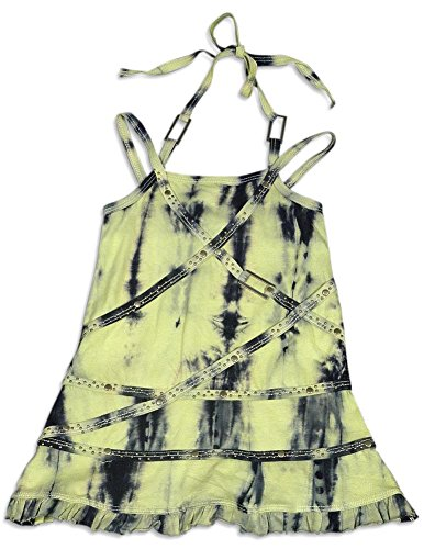 Hannah Banana by Sara Sara - Little Girls's Tie Dye Halter Dress, Yellow, Navy 26721-4