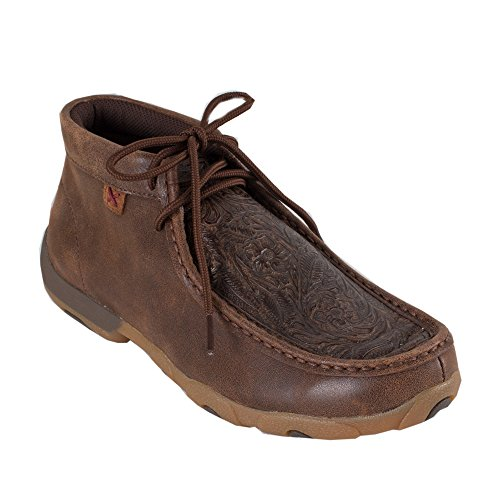 Twisted X Ladies Brown Print Driving Moccasins 9 by Twisted X