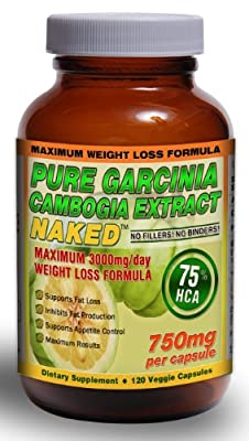 "75% HCA PURE GARCINIA CAMBOGIA EXTRACT NAKEDâ""¢ 