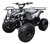 TAO TAO model TFORCE 110cc Fully Automatic Mid / Youth Size ATV with REVERSE and  Large UPGRADED Tires, 4-stroke Air-cooled Engine and LED Headlights.