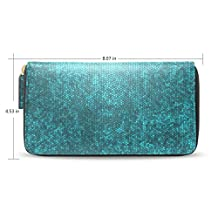 Womens Stained Glass Pattern Long Wallet Case with Card Holder
