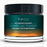 TrueWhite Teeth Whitening Activated Charcoal Powder, All Natural Tooth Whitening, Perfect Teeth Whitener w/Pure Charcoal Powder & Coconut, Flavored Teeth Whitener - MSRP 144.99 (Orange 1 Pack)